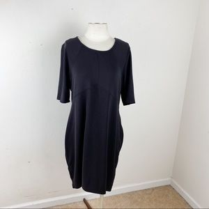 Attention Short Sleeve Little Black Dress Size 1X